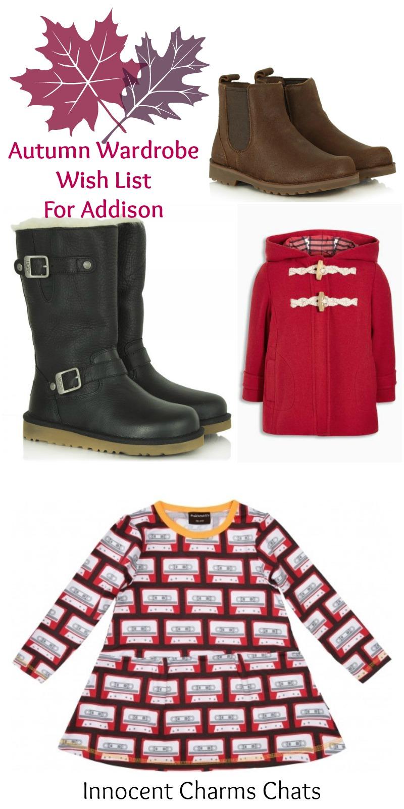 Autumn Wardrobe Wish List