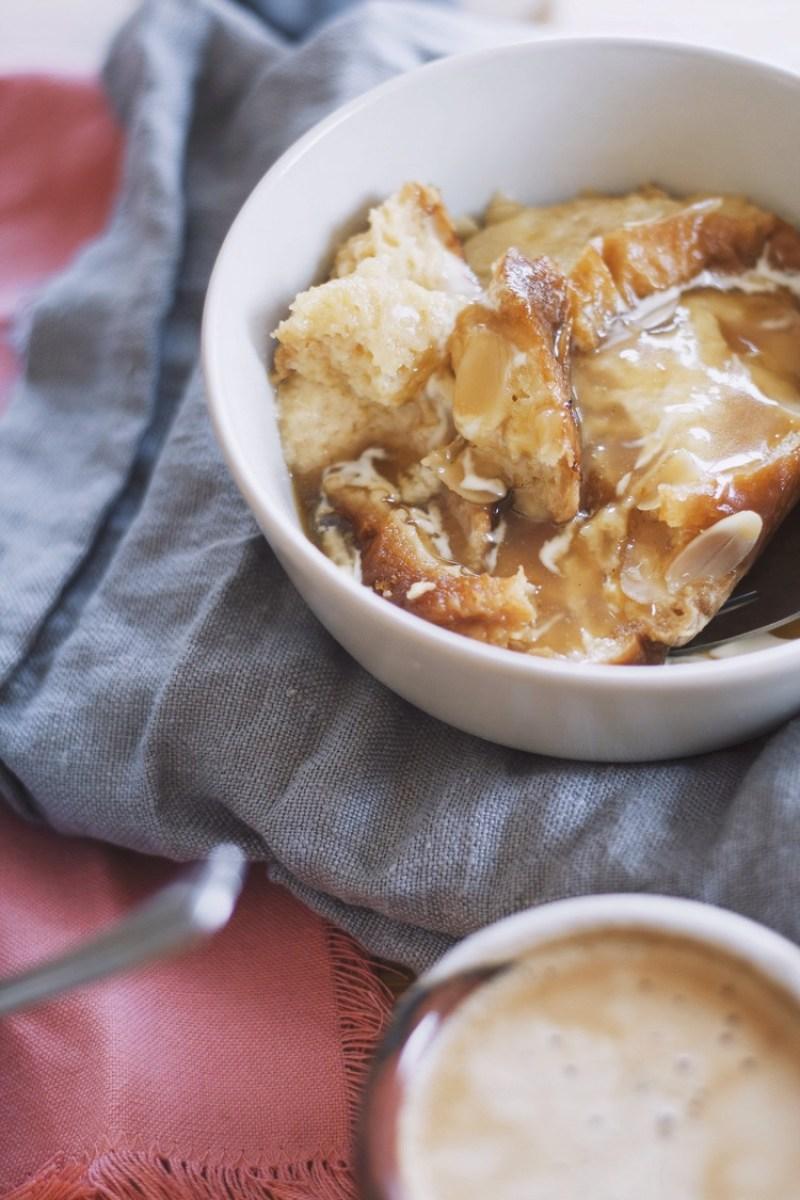 Slow Cooked Brioche Bread Pudding