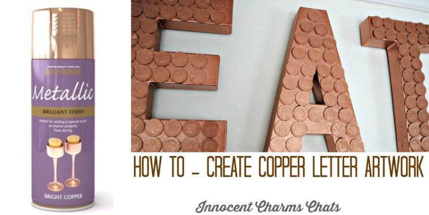 Copper Letter Artwork