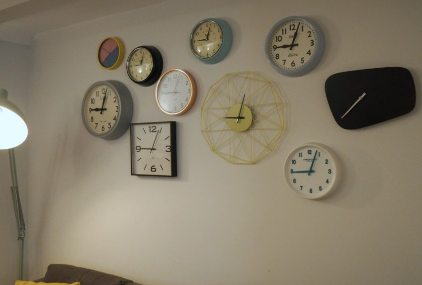 Clock Gallery Wall featured over at Innocent Charms Chats