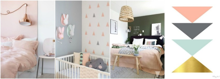 Peach is a must colour in modern day Interiors, check out this inspiration from Innocent Charms Chats it shows how it works perfectly in Scandi Style houses.