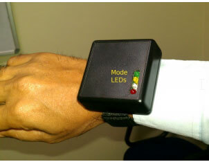 Hand-Device-with-Four-LED-Indicators