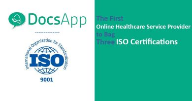 DocsApp The First Online Healthcare Service Provider to Bag ISO Certifications
