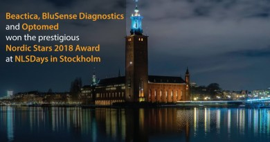 Beactica,-BluSense-Diagnostics-and-Optomed-announced-as-winners-of-the-prestigious-Nordic-Stars-2018-Award-at-NLSDays-in-Stockholm