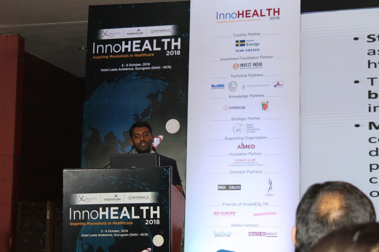 4.-Dhananjay-KVN-presents-his-innovation-on-voxel-base-analysis-for-pediatric-brain-mapping-in-the-Young-innovators-award-session-at-InnoHEALTH-2018