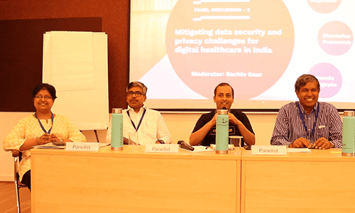 Dr.-Vibha-Jain-Rabin-Majumdar-Sachin-Gaur-and-Ananda-Sen-Gupta-in-Panel-discussion-2-at-IC-InnovatorClub-Meeting (1)
