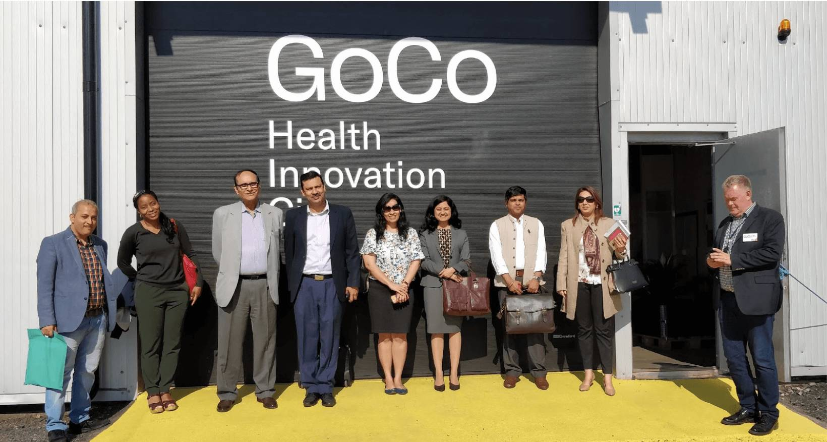 Figure 12: Field visit to the site of planned GoCo Health City