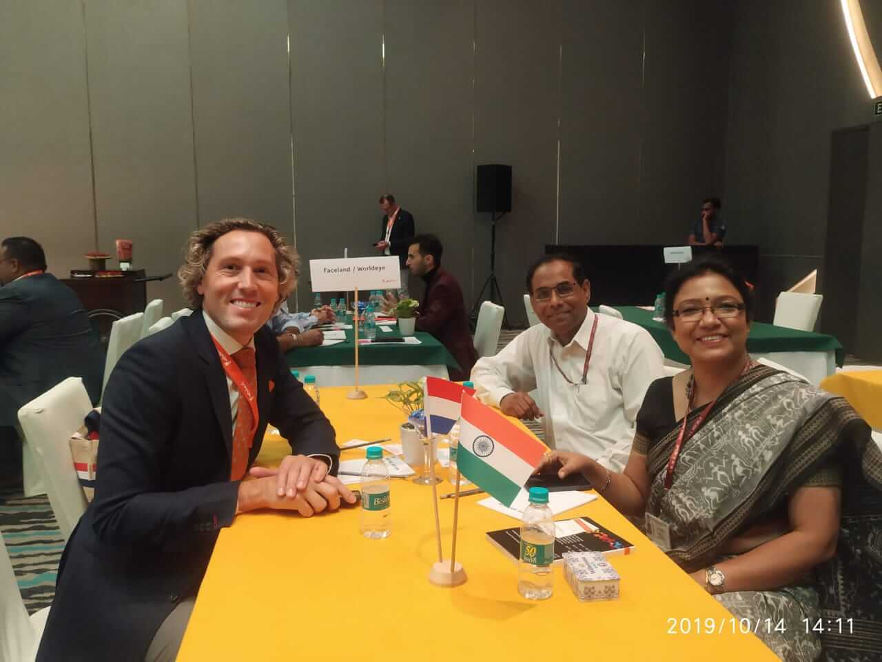 B2B meeting with Faceland representative Bart and AIIMS representatives at the summit organised by CII in collaboration with the Netherlands