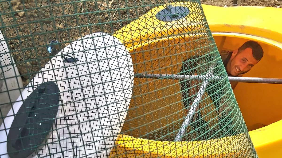 INNOQUA demo site in Sinop: Prepping the lumbrifilter