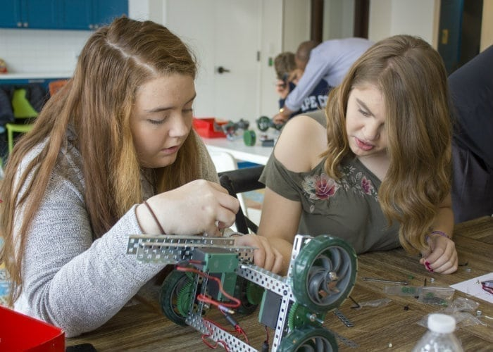 Kids Working on a robot