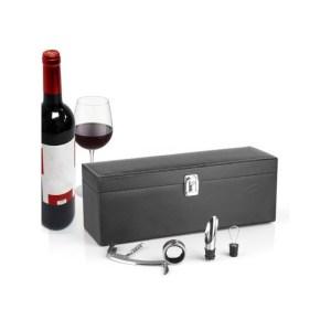 Estojo com acessórios de vinho Summum Sommelier 4 peças