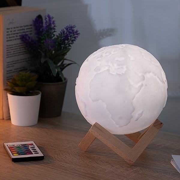 Candeeiro Planeta Terra 3D Led c/ comando