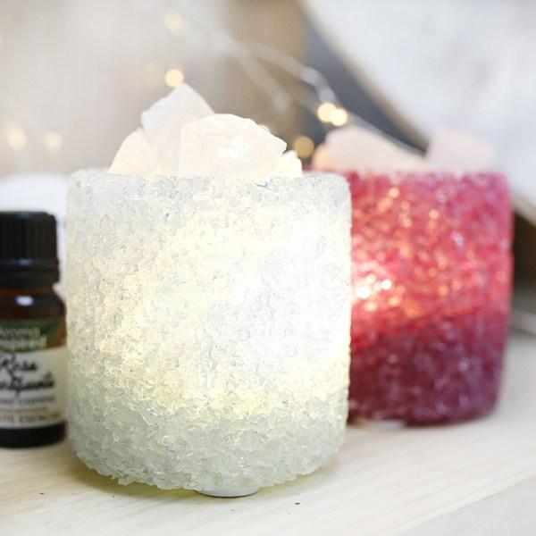 Candeeiro de cristal para aromaterapia