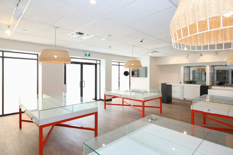 New Retail Construction - Pendant Lights and Displays