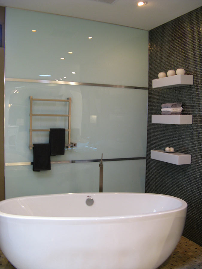 High Gloss Acrylic Shower Wall Panels Back Painted Glass