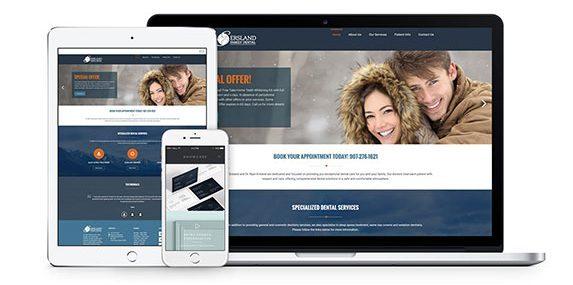 dental website design mockup