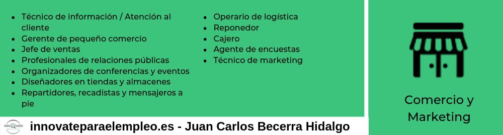 Portales de empleo del sector del comercio y marketing