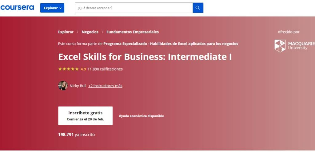 curso-excel-skills-for-business