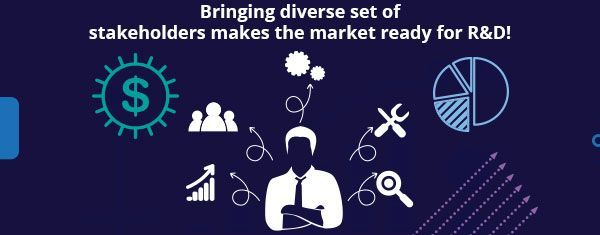 Bringing diverse set of stakeholders makes the market ready for R&D!