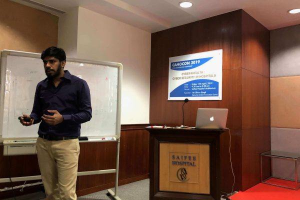Dhruv Singh training to healthcare professionals and hospitals: Endpoint Security