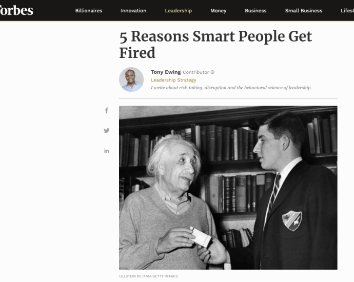 Smart People Get Fired