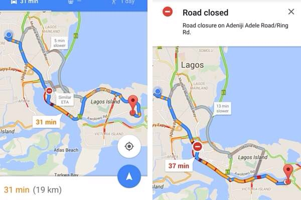 Google maps real time traffic updates is now available in nigeria google maps real time traffic updates is now available in nigeria sciox Image collections