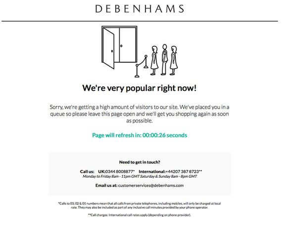 #BlackFriday: Here are some  websites that crashed because of the shopping frenzy debenhams black friday website down crash not working 1136722