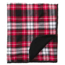 Boxercraft Flannel Blanket - #FB250 - Black Red
