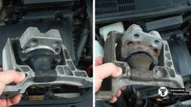 New vs broken engine mount.