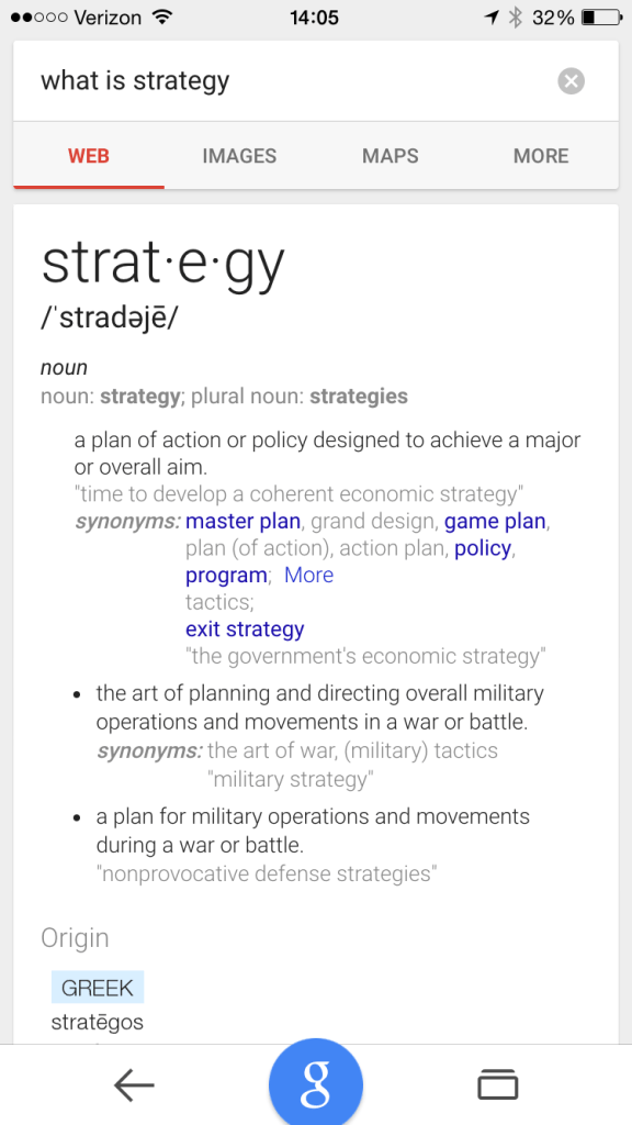 """Google Search for """"What is Strategy"""""""