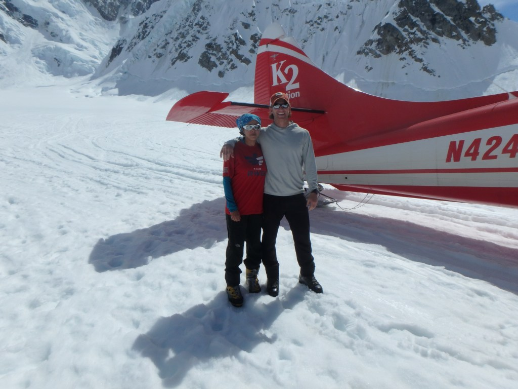 Naira Musallam and Tim Lawton: Starting The Climb on Denali (Image Credit: Naira and Tim)