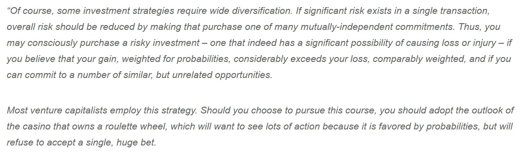 Warren Buffett, on Diversification and Portfolio Construction