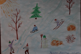 My favourite season is winter. Sledging is my favourite pastime in winter. As soon as it snows we go sledging with my family. We also go skiing together and make a snowman. It's a real fun to spend a day with all my family outdoors in winter.