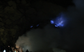 Blue Flames and People