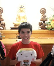 In front of alter Buddhist