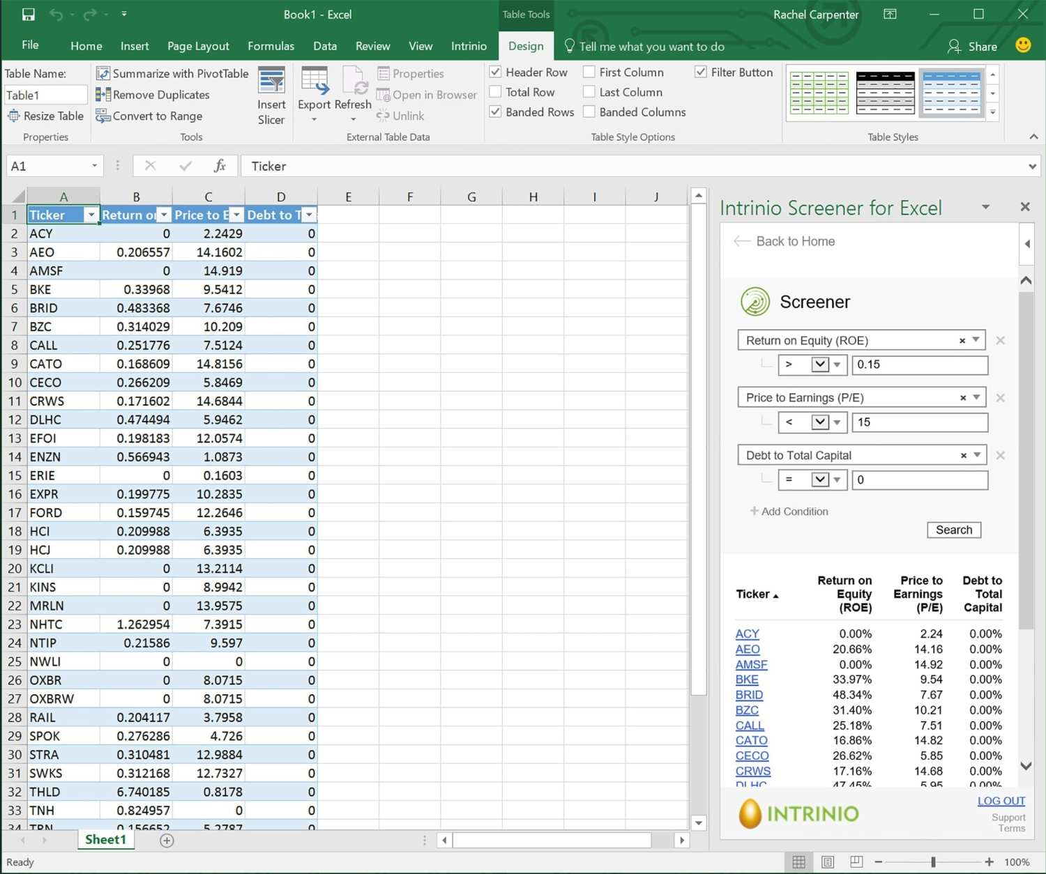 Intrinio excel screenshot