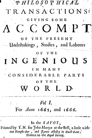 Title page of Philosophical Transactions of th...