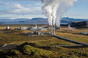 The Nesjavellir Geothermal Power Plant in Þing...