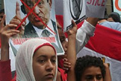 Young Faces in the crowd - Egypt Uprising prot...