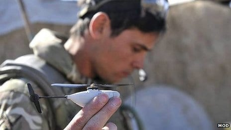 Mini helicopter drone for UK troops in Afghanistan