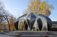 Robot Builds Pavilion from Carbon and Glass Fiber