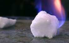 Using a form of 'ice that burns' to make potable water from oil and gas production