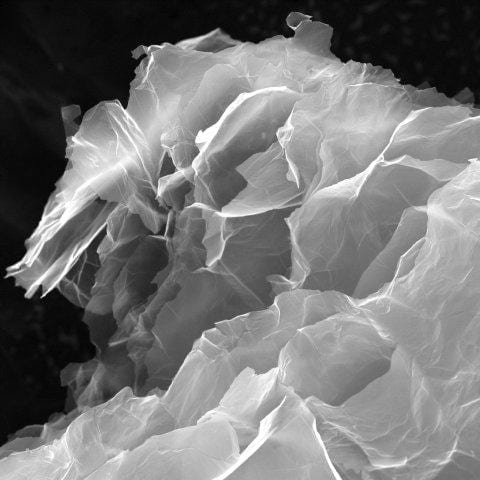 Graphene (above), along with sunlight and titanium dioxide, can purify drinking water. Credit: Tyndall National Institute