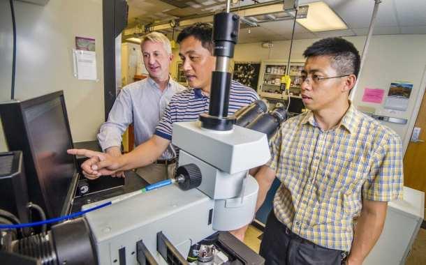 Diamond plates create nanostructures through pressure, not chemistry