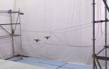 Rescue drones can save lives by building a rope bridge