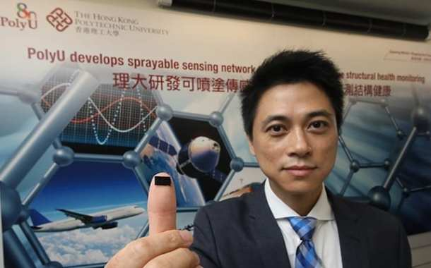 Sensors can be sprayed directly on structural surfaces such as train tracks and aeroplane structures
