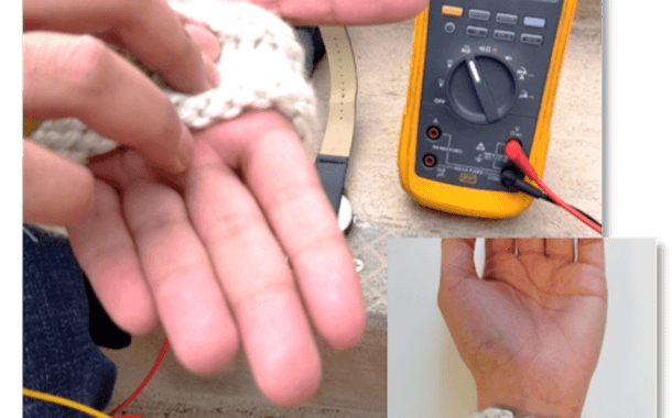 A fabric can harvest body heat to power small wearable microelectronics
