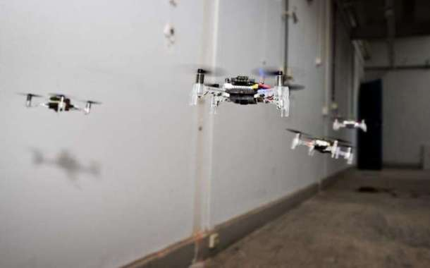 A swarm of tiny drones that can explore unknown environments completely by themselves