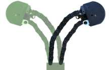 A flexible robotic extendable appendage can meander through tight spaces and then lift heavy loads