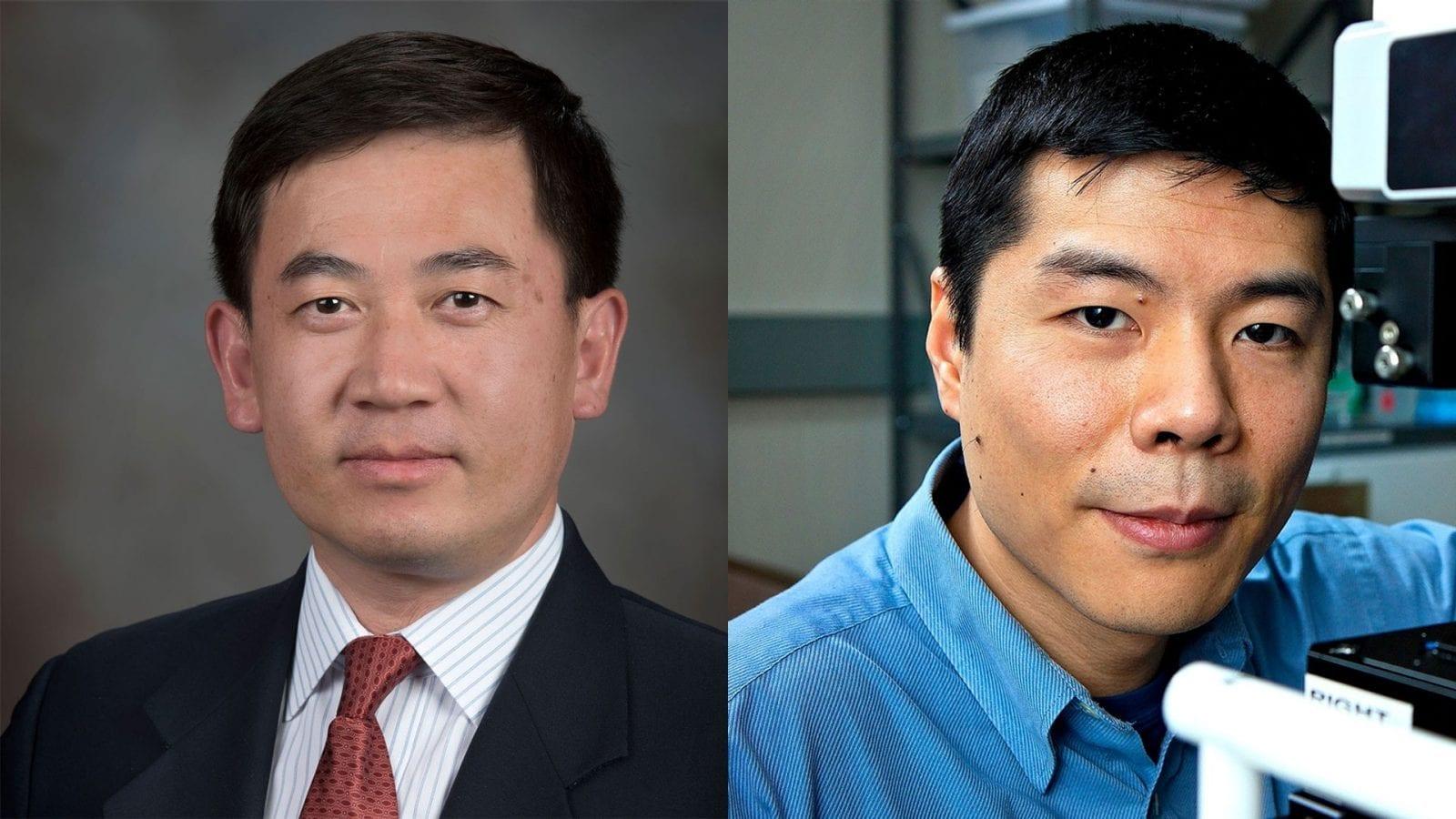 From left: Jiangtao Cheng and Wei Zhou.